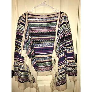 Sweaters - Multicolored cardigan